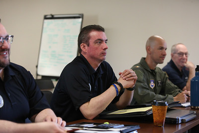 The Great Lakes Region Civil Air Patrol Region Staff gather on June 9th 2018 at Camp Atterbury near Indianapolis, Indiana for a one day staff meeting and working group presentation.  Photos by Maj Robert Bowden, CAP National Photographer