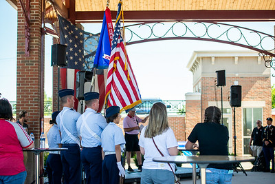 CAP - Licking County Composite Squadron provides Color Guard for Uniform Service Appreciation Day in the Canal Market District in downtown Newark
