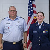 CAP Licking County Composite Squadron Senior Members and Cadets receive their newly earned awards and promotions.