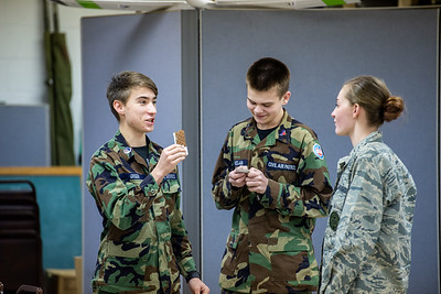 Cadets at the Licking County Composite Squadron, a local unit of Civil Air Patrol, compete at Jeopardy on the subject of UAV and R/C aircraft.