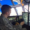 1st Lt Justin Shirkey in the C-130 simulator