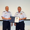 Col David Jennison presenting Capt Norman Link his Garber Award (Level IV)