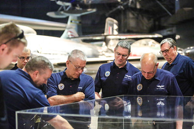 Members of the 2018 Civil Air Patrol Great Lakes Region Staff College at the National Museum of the United States Air Force on 6 June 2018. Photography by Maj Robert Bowden, CAP/NHQ Photographer
