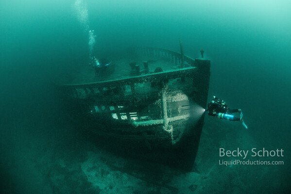 Eber Ward wreck in Straits of Mackinac