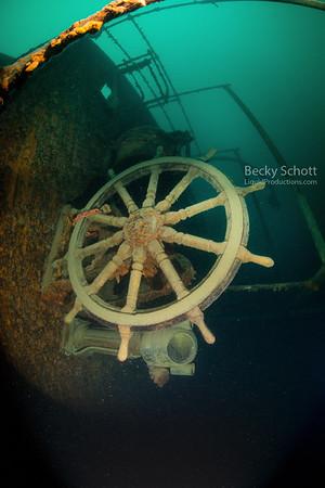 Shipwrecked in lake superior