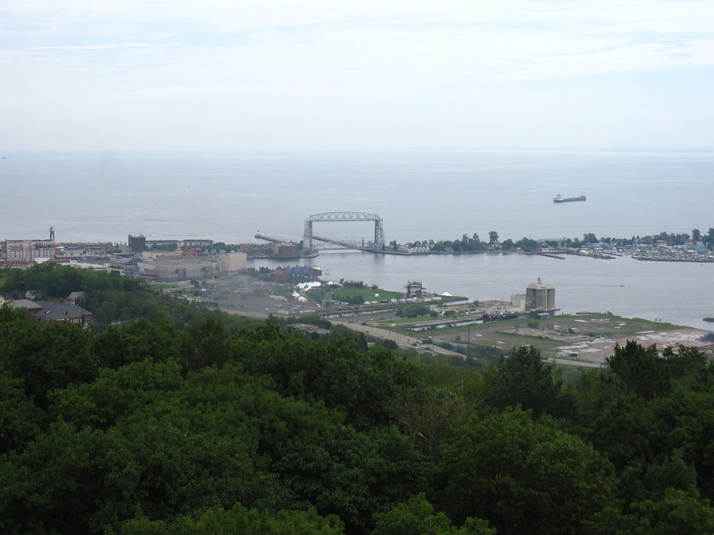 Day 1, Thursday: Kicking off my Isle Royale wreck diving trip with a stop at Enger Tower to take in the panoramic views of Duluth.