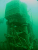 Massive engine and cranks, especially when compared to the diver on the left (faint image of Al).