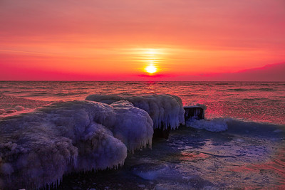 Point Betsie Winter Sunset