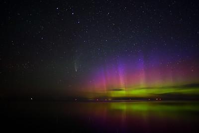 Comet with Aurora