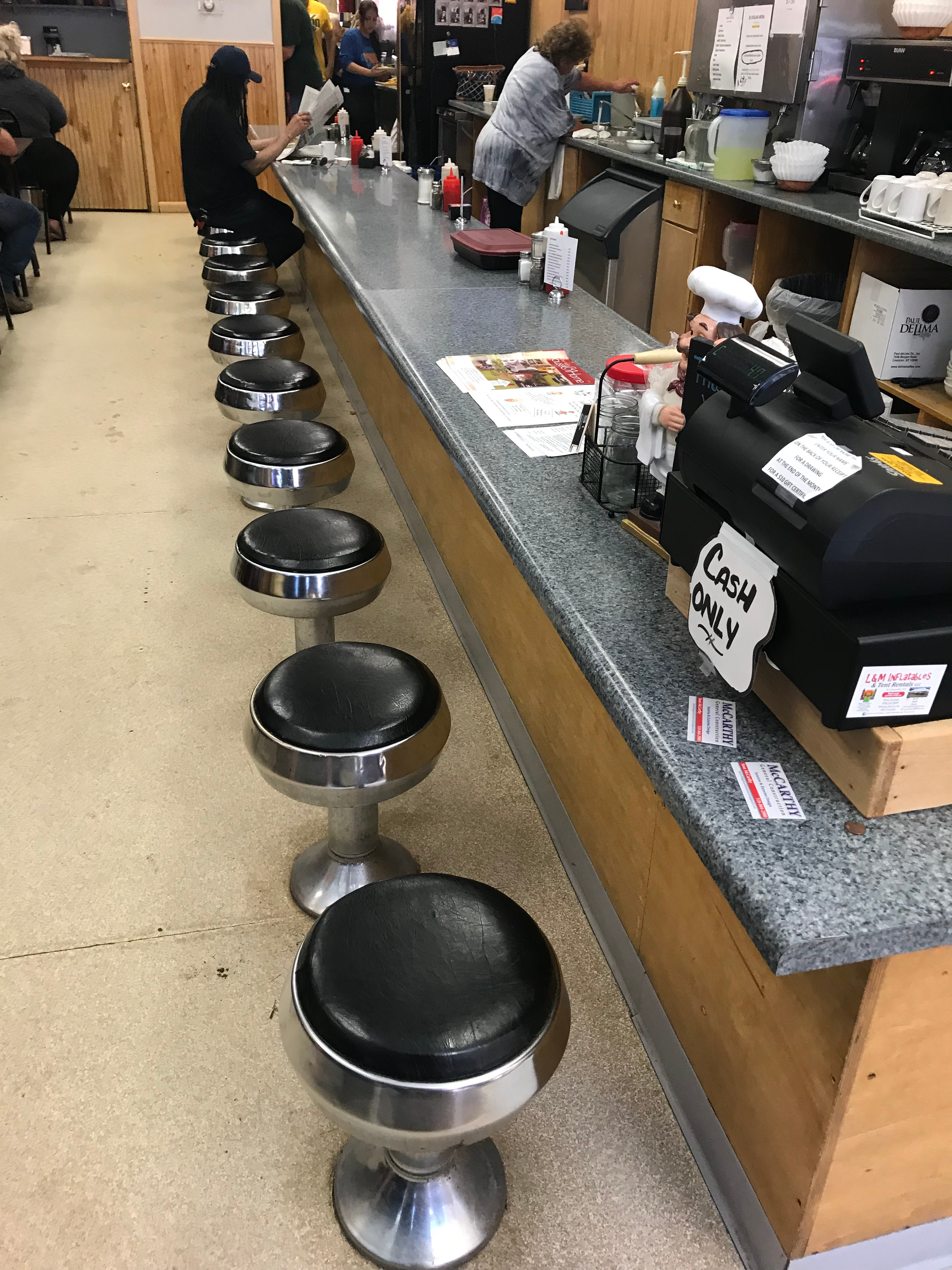 Short Lunch Counter Stools!