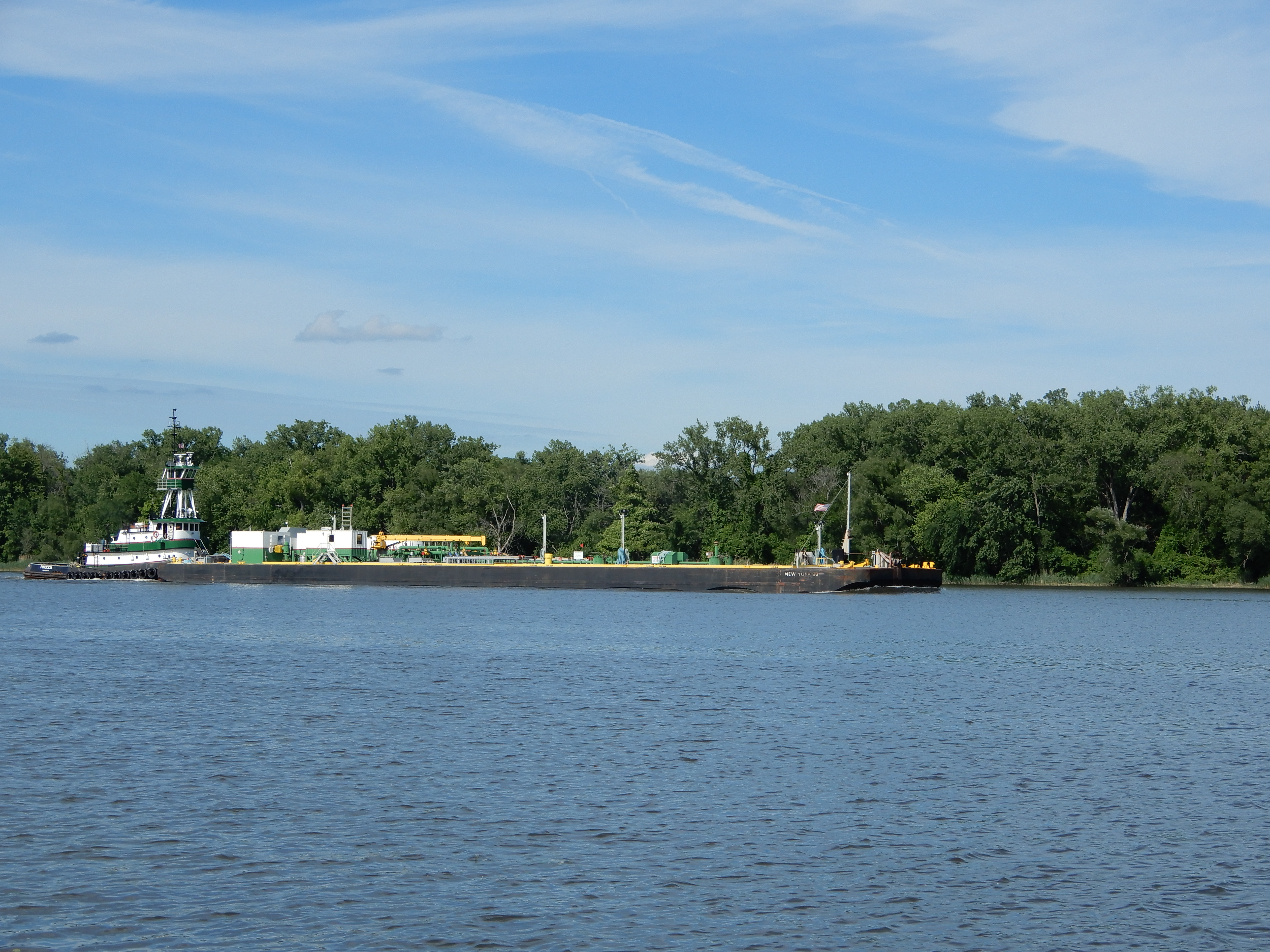 Southbound fuel barge