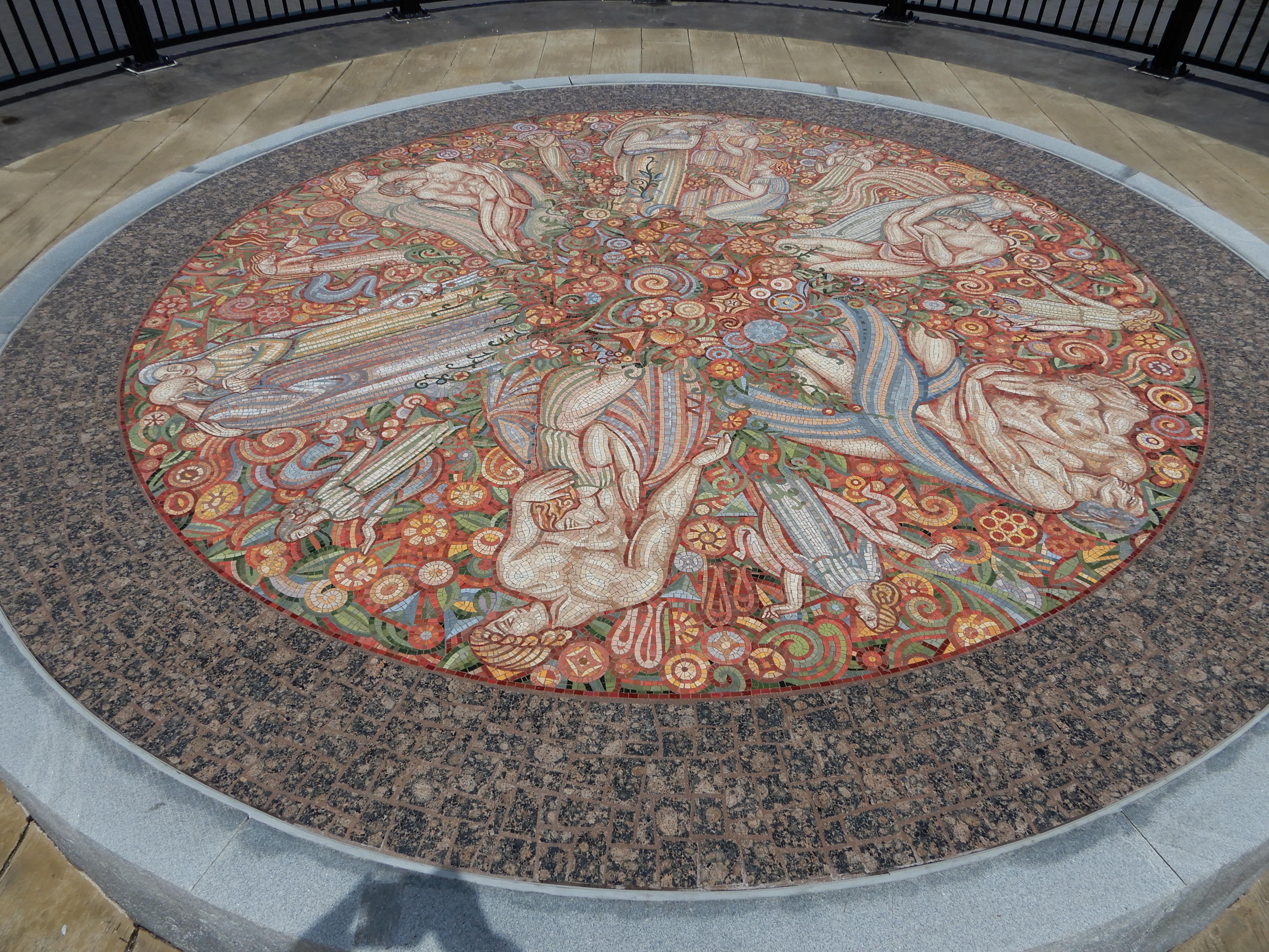 Mosaic on the bridge