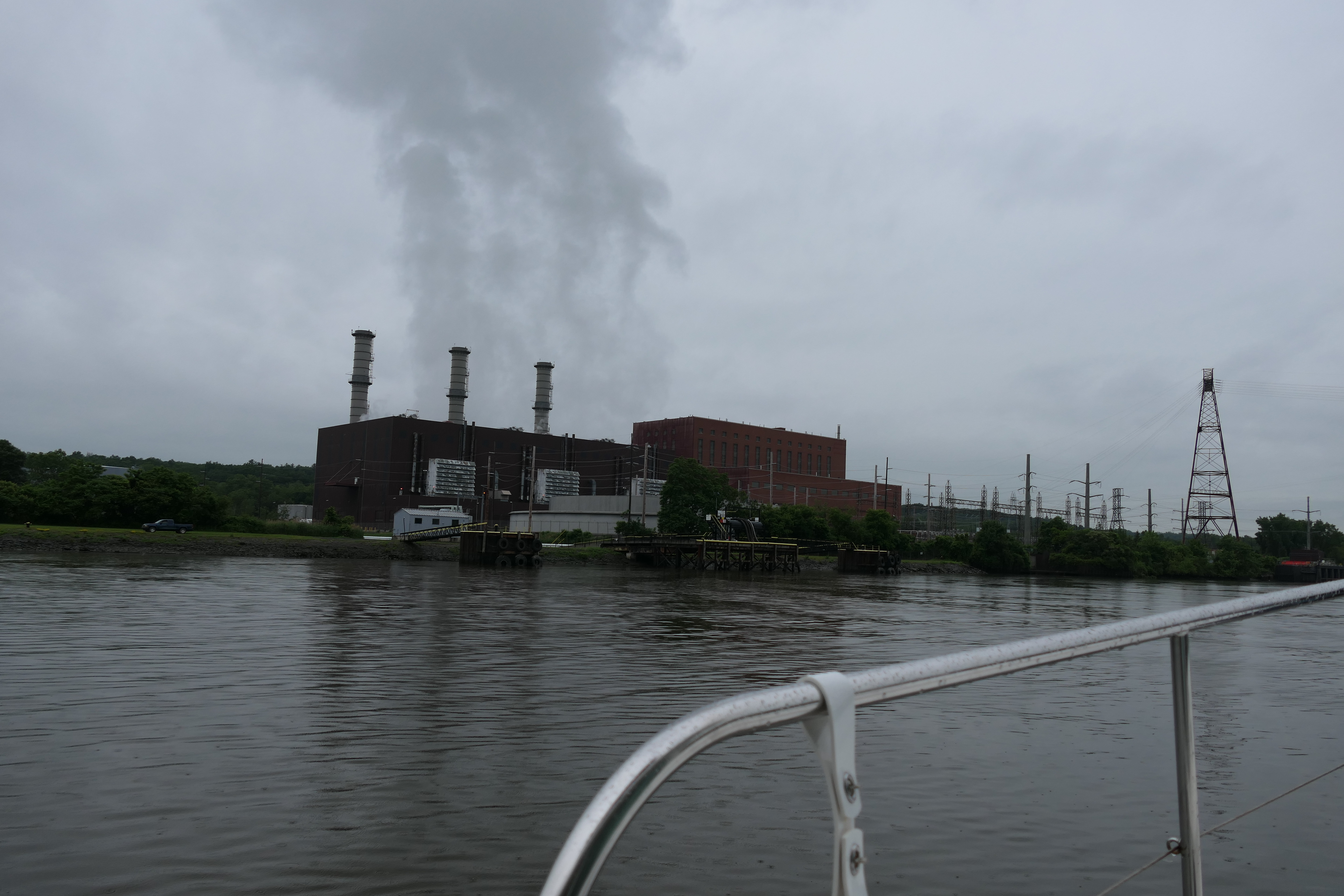Steam rising from a power plant