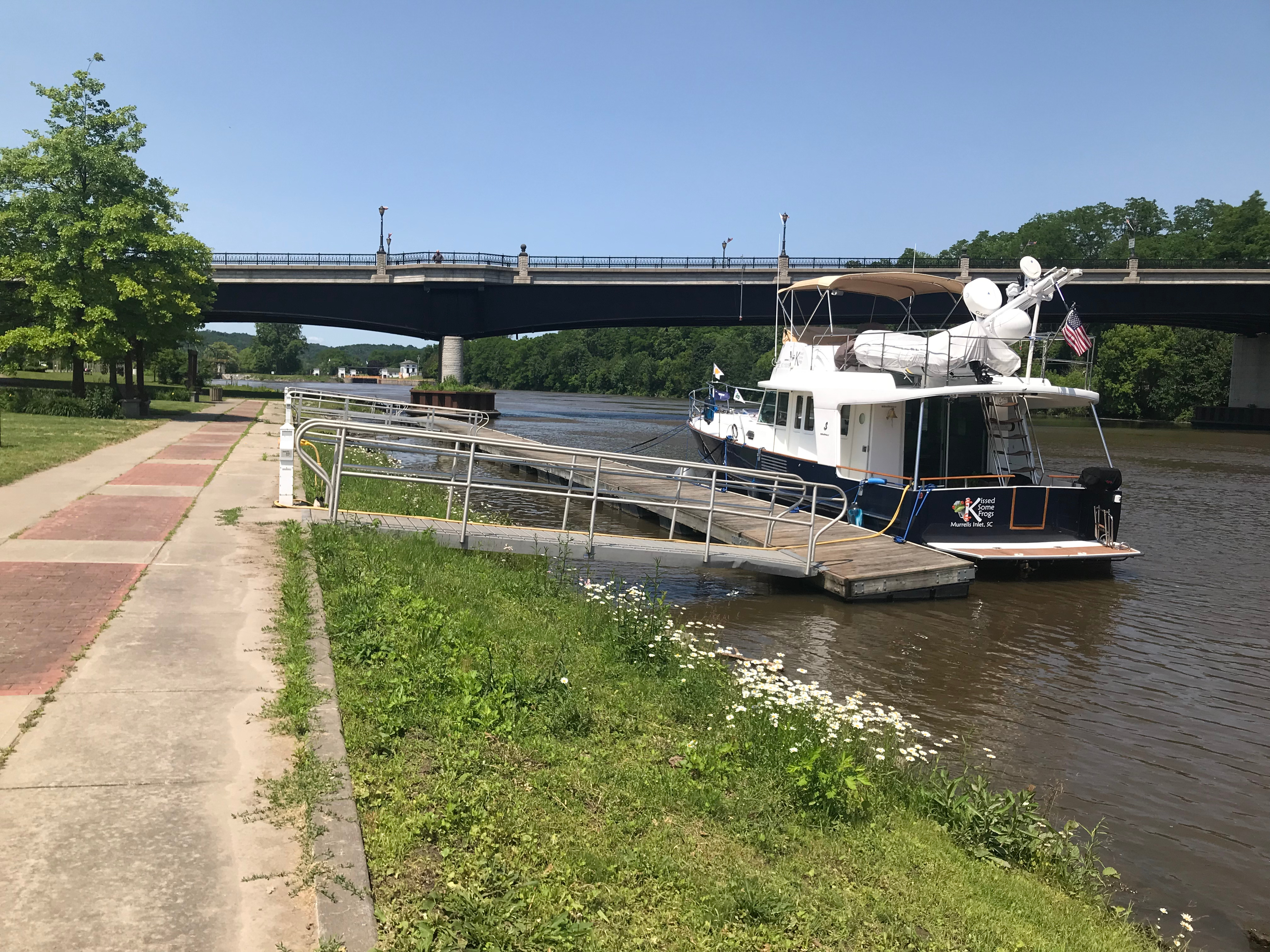 Docked in Canajoharie