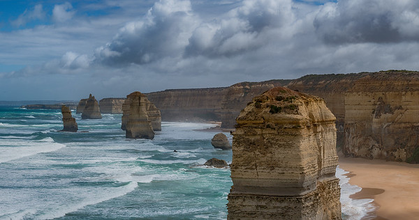 Panorama of the Twelve Apostles,  Great Ocean Road, Australia