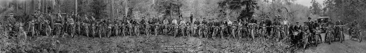1st Annual Motorcycle Club Picnic, Granite Falls, WA 1918
