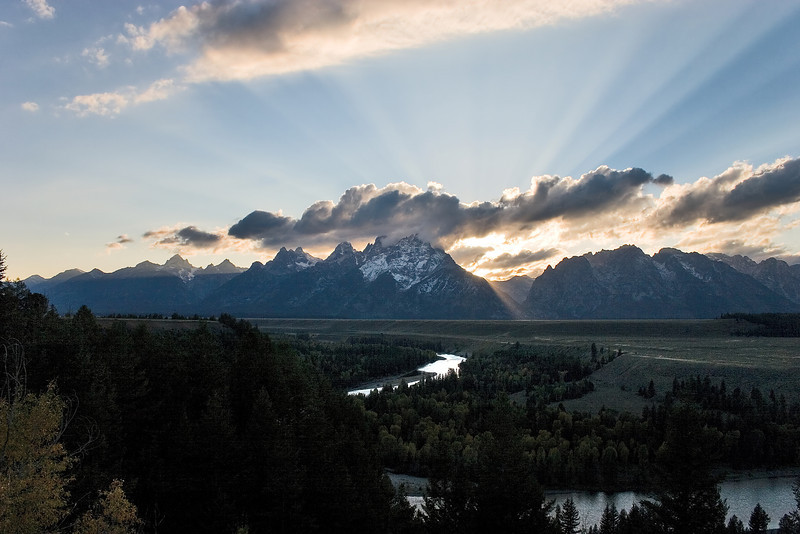 We watched the sun set over the Tetons from the Snake River Overlook - along with about 50 other photographers.  There is a draw to this scenery that compels one to watch until it's too dark to see any more.
