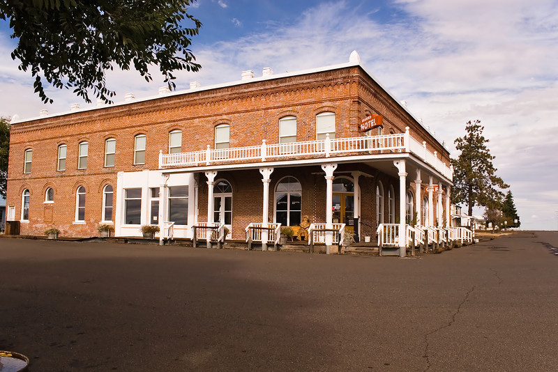 The Shaniko Hotel. It was closed for the season but does offer interesting rooms for travelers.
