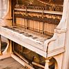 In need of a tune-up.  This piano was on the front porch of one of the cabins in Shaniko.