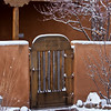 Gate to Santa Fe home