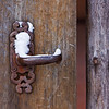 Gate detail - Santa Fe home