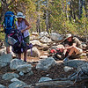 Something always needs adjusting on the trail.<br /> <br /> Day 1 - Tuolumne Meadows Lodge to Vogelsang camp.
