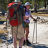 Chris and Lorrie take a break late morning.<br /> <br /> Day 1 - Tuolumne Meadows Lodge to Vogelsang camp.