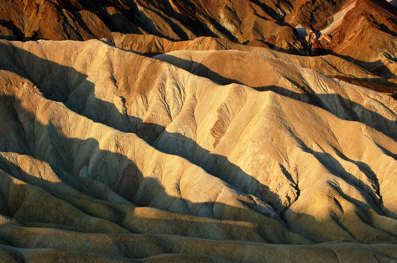 Sunlit Ridges at Zabriskie Point