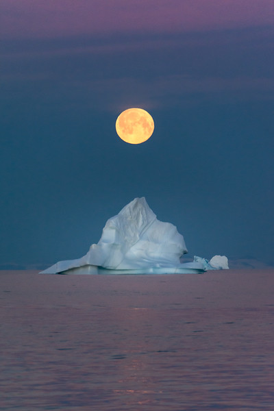 Full Moon and Iceberg