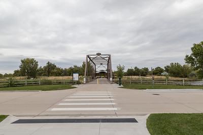 Bridge over lake at The, great, Platte River, Road, Archway, Monument, Highway I-80 Kearney, Nebraska