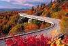 This is the Linn Cove Viaduct in the Blue Ridge Mountains