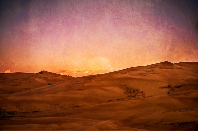 Texturized sand dunes