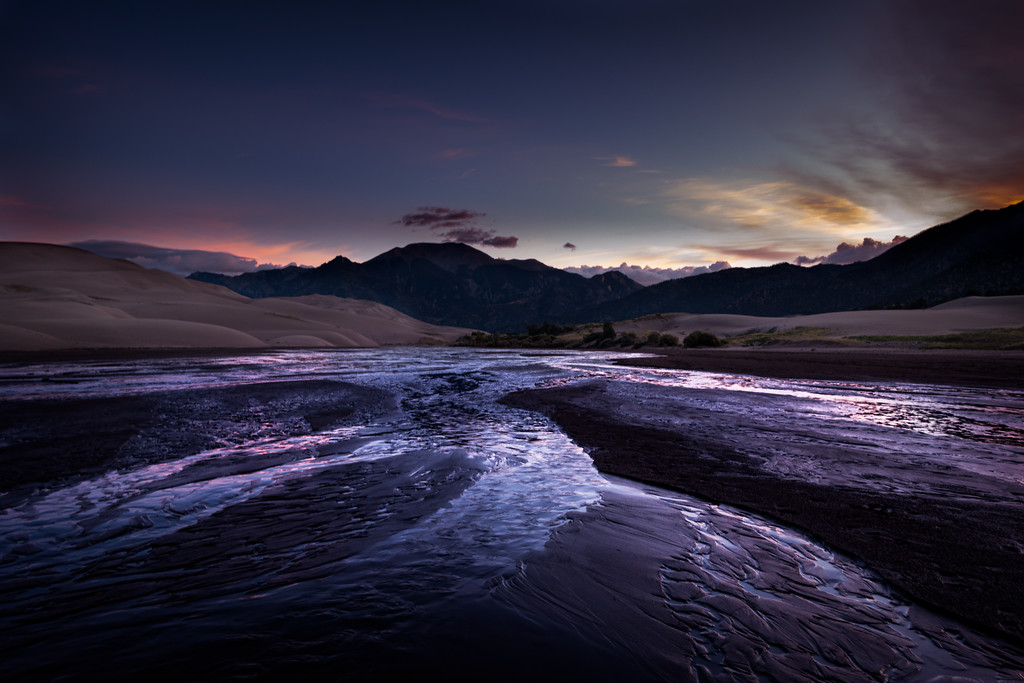 Medano Creek, Great Sand Dunes National Park and Preserve, southern Colorado