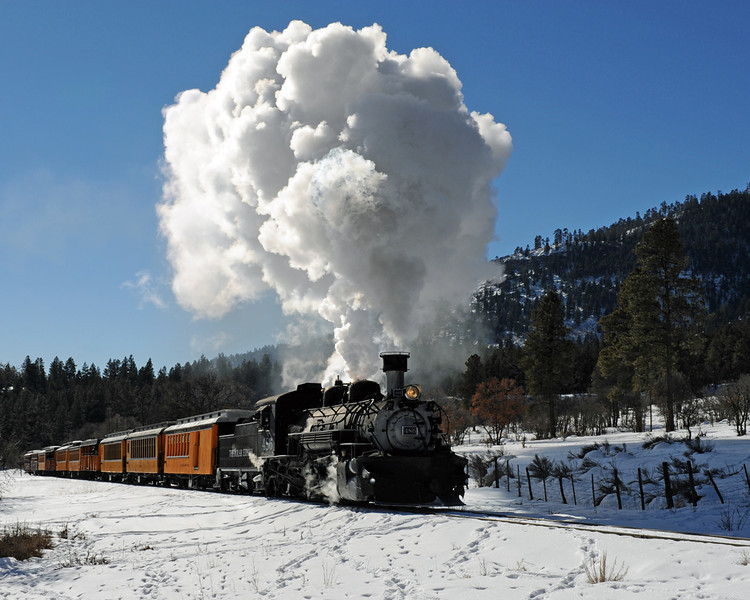 "Durango to Cascade ""Polar Express"" - Durango - Silverton Narrow Gauge Railroad, San Juan National Forest, Colorado - Paul Riewerts - December 2013"