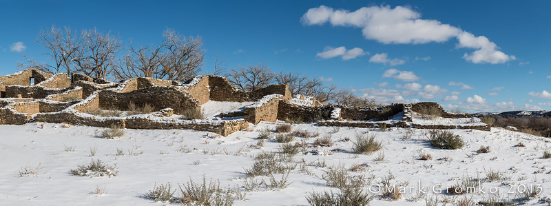 Aztec Ruins (panoramic, 7 vertical Images) - Aztec Ruins National Monument, New Mexico - Mark Gromko - December 2013