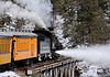 Polar Express Blowing Off Steam - Durango-Silverton Narrow Gauge Railroad, San Juan National Forest, Colorado - Paul Riewerts - December 2013