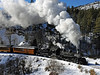 """Comin' Round the Bend"" - Durango-Silverton Narrow Gauge Railroad, San Juan National Forest, Colorado - Paul Riewerts - December 2013"
