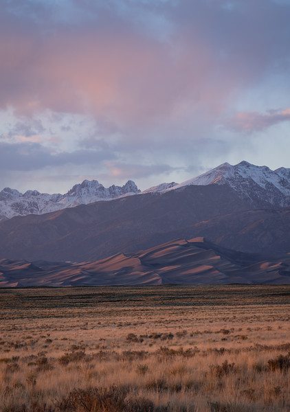Late day light over the Great Sand Dunes