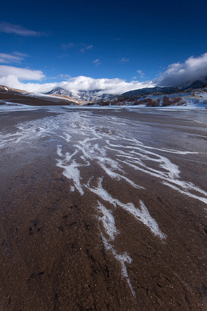 Frozen Medano Creek, Great Sand Dunes N.P.