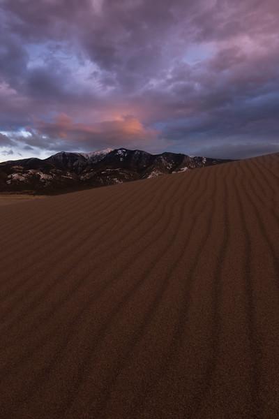 Blanca and Ellingwood peaks, Great Sand Dunes N.P. .