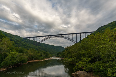 NRG Bridge under Cloudy Sky