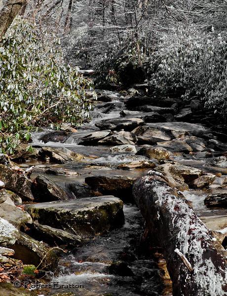 Snowy Stream by Newfound Gap Road
