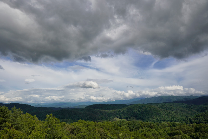 Great Smoky Mountains National Park Overlook View