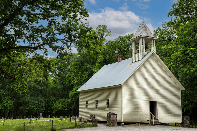 Primitive Baptist Church and Cemetery in Cades Cove