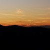Sunset view of Mt. Guyot and Old Black in Great Smoky Mountains National Park, as viewed from Mt. Sterling. At 6,621 ft. above sea level, Guyot is the third highest mountain in the East. It is also the tallest mountain in the East that can't be reached by car.