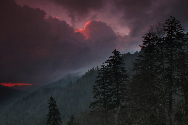Storm on the way - Great Smoky Mountains National Park - Sandy Reed - April 2012