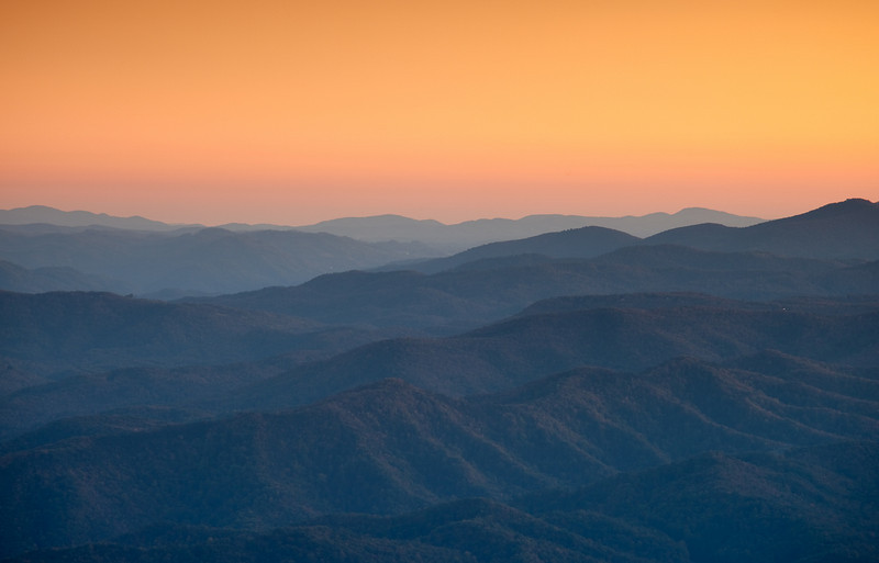 Great Smoky Mountains - as seen from the Blue Ridge Parkway - NC