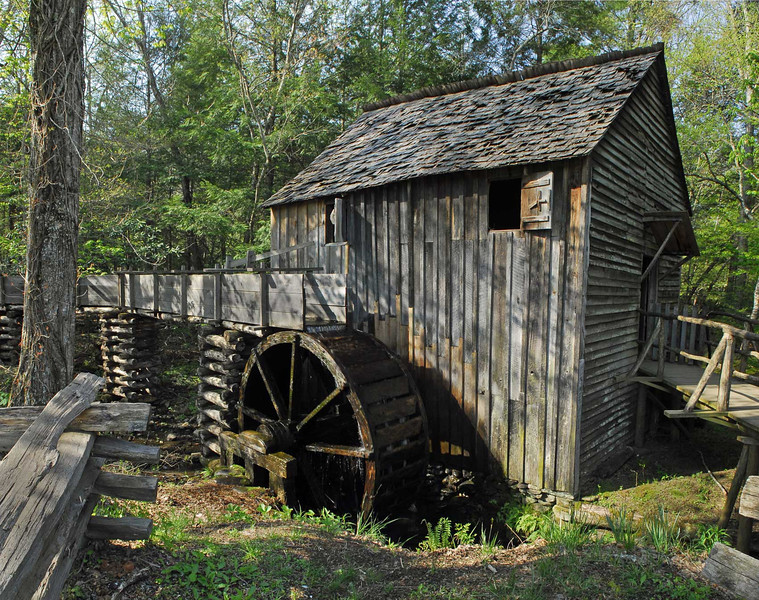 Grist Mill - Cades Cove - Great Smoky Mountains National Park - Panoramic image - Doug Beezley - April 2011