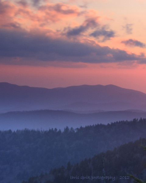 Sunset from Clingman's Dome - Great Smoky Mountains National Park - Chris Sprik - April 2012