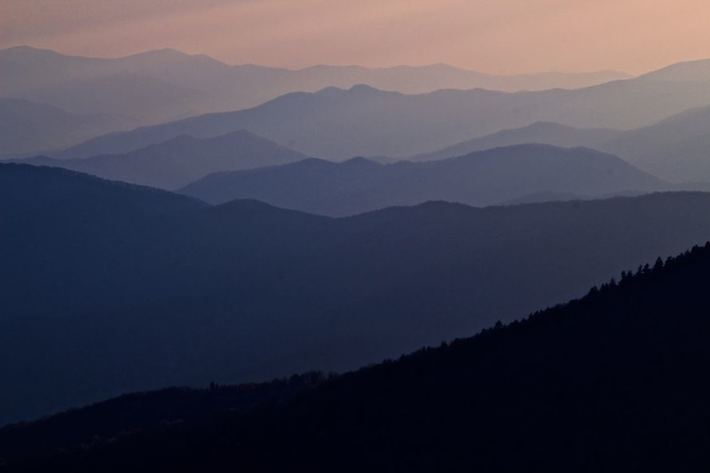 Smokies Twilight - Great Smoky Mountains National Park - Sandy Reed - April 2012